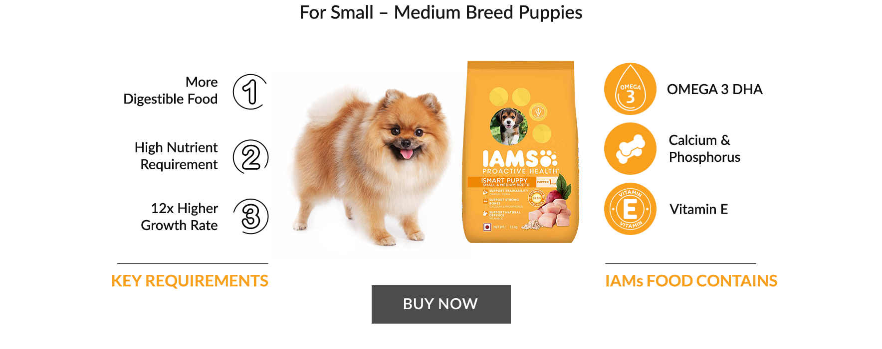 For Small - Medium Breed puppies